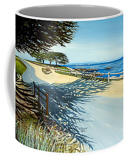 Coffee Mug featuring the painting Monterey Shadows by Elizabeth Robinette Tyndall