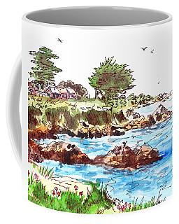 Monterey Shore Coffee Mug by Irina Sztukowski