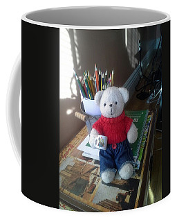 Monty At Writing Desk Coffee Mug