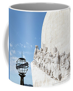 Coffee Mug featuring the photograph Monument Of The Discoveries by Rebecca Cozart