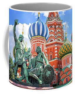 Coffee Mug featuring the photograph Monument To Minin And Pozharsky by Delphimages Photo Creations