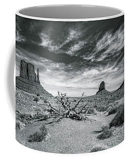 Coffee Mug featuring the photograph Monument Valley by Lou Novick
