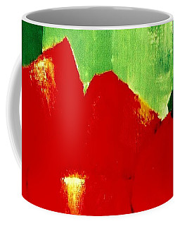 Coffee Mug featuring the painting Monumental Capsicum by VIVA Anderson