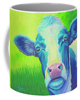 Moo Now Blue Cow Coffee Mug