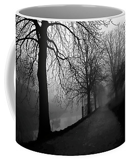 Coffee Mug featuring the photograph Moody And Misty Morning by Inge Riis McDonald
