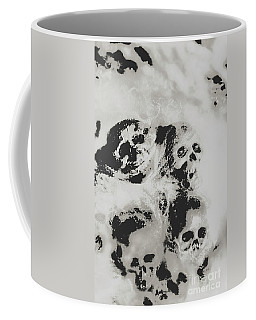 Moody Dramatic Cobwebby Skull Artwork Coffee Mug