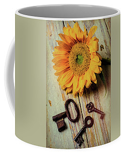 Moody Sunflower With Keys Coffee Mug