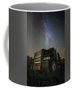 Coffee Mug featuring the photograph Moody Trucking by Aaron J Groen