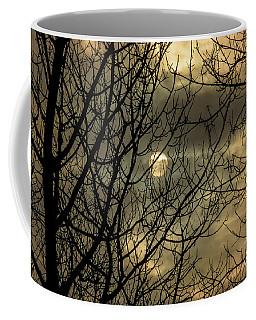 Moody Winter Sky Through Trees Coffee Mug