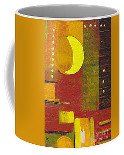 Coffee Mug featuring the painting Moon Abstract 32817 by Patricia Cleasby