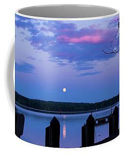 Moon And Pier Coffee Mug