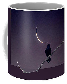 Raven Under Crescent Moon Coffee Mug