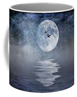 Moon And Sea Coffee Mug
