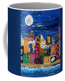 Moon And Sea Waves Coffee Mug