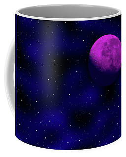 Coffee Mug featuring the photograph Moon And Stars by Mark Blauhoefer