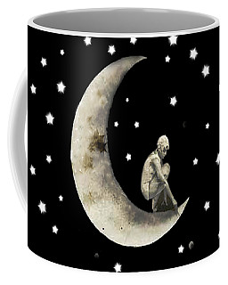 Moon And Stars T Shirt Design Coffee Mug