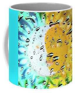 Moon And Sun Rainy Day Windowpane Coffee Mug
