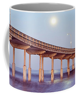 Moon And The Pier Coffee Mug