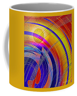 Coffee Mug featuring the digital art Moon Blanket 2 by Iris Gelbart