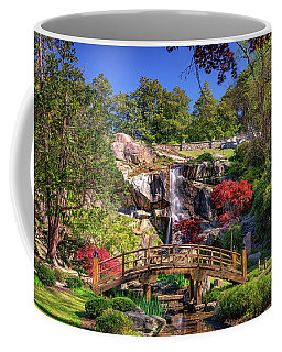 Moon Bridge And Maymont Falls Coffee Mug by Rick Berk