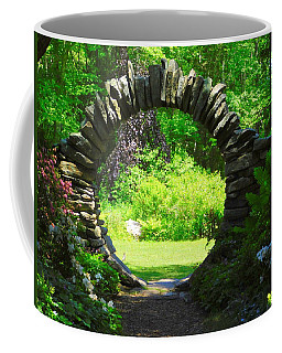 Moon Gate At Kinney Azalea Gardens Coffee Mug