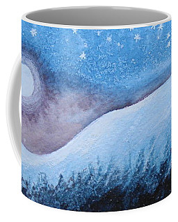 Coffee Mug featuring the painting Moon Glow by Margaret Bobb