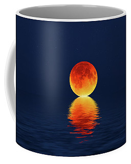 Moon Kissing The Sea Coffee Mug