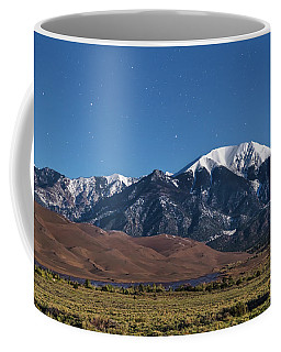 Moon Lit Colorado Great Sand Dunes Starry Night  Coffee Mug by James BO Insogna