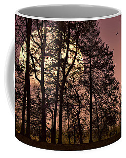 Coffee Mug featuring the photograph Moon Lit Silhouette by John Rivera