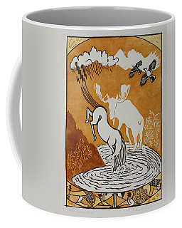 Moon Of Scarlet Plums Coffee Mug