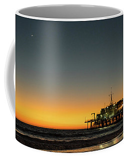 Coffee Mug featuring the photograph Moon On Jetty  by Michael Hope
