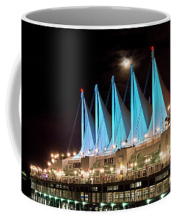 Moon Over Canada Place In Vancouver Coffee Mug