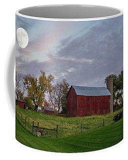 Coffee Mug featuring the photograph Moon Over Farm by Randall Branham