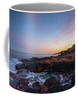 Moon Over Gloucester Sunset Coffee Mug