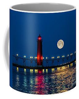 Moon Over Grand Haven Coffee Mug