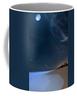Moon Over Hobe Sound Beach Florida  Coffee Mug