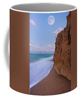 Coffee Mug featuring the photograph Moon Over Hutchinson Island Beach by Justin Kelefas