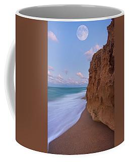 Moon Over Hutchinson Island Beach Coffee Mug by Justin Kelefas