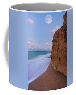 Moon Over Hutchinson Island Beach Coffee Mug