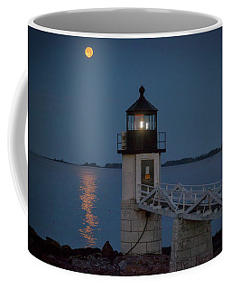 Coffee Mug featuring the photograph Moon Over Marshall Point by Rick Berk
