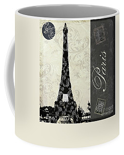 Moon Over Paris Postcard Coffee Mug
