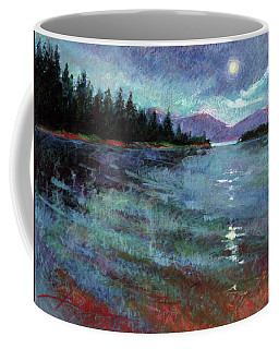 Moon Over Pend Orielle Coffee Mug