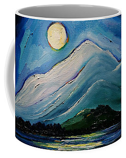 Moon Over Pioneer Peak Coffee Mug