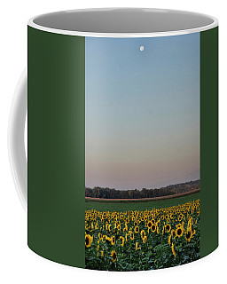 Moon Over Sunflowers Coffee Mug