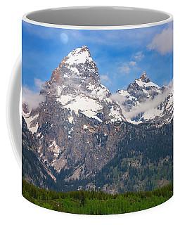 Moon Over The Tetons Coffee Mug