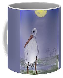 Moon Rise Becomes A Stork Coffee Mug