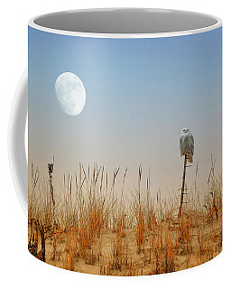 Moon Rise Snowy Owl Coffee Mug