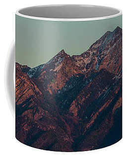 Coffee Mug featuring the photograph Moon Rising Near Twin Peaks by Spencer Baugh