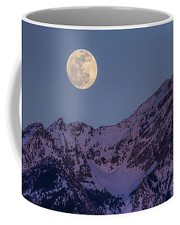 Coffee Mug featuring the photograph Moon Rising Over Twin Peaks by Spencer Baugh