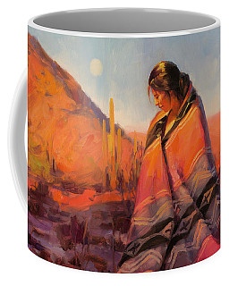 Coffee Mug featuring the painting Moon Rising by Steve Henderson